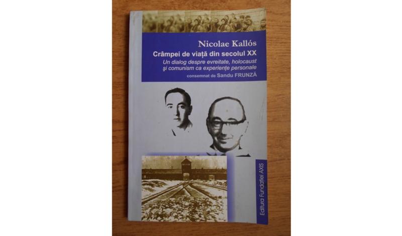 Nicolae Kallos, Crâmpei de viață din secolul XX. Un dialog despre evreitate, holocaust şi comunism ca experienţe personale – consemnat de Sandu Frunză (Iaşi: Ed. Fundației AXIS, 2003).